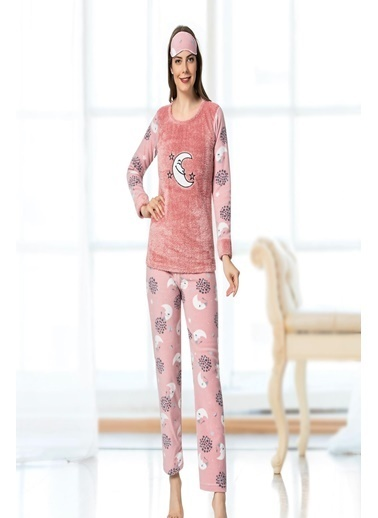 Oksit Pijama Takım Bordo